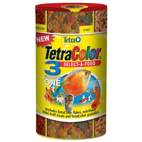 Tetracolor Tropical Flakes - Tetra 77033 TetraColor Select-a-Food for Fishes, 1.98-Ounce