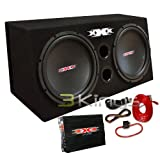 XXX XBX-1500B 15'' 1500W Car Subs+Amplifier+Amp Kit+Sub Box Audio Bass Enclosure