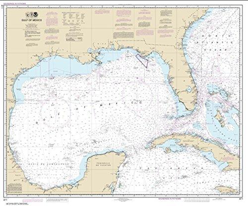 NOAA Chart 411-Gulf Of Mexico-WATERPROOF -