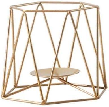 ZTTDDP Escultura, Hierro Forjado, Pequeños Regalos, Geometría Dorada, Adornos De Velas, Set Romántico, 1