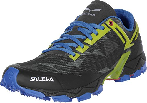 SALEWA Ms Lite Train, Stivali da Escursionismo Uomo Nero Blu Giallo