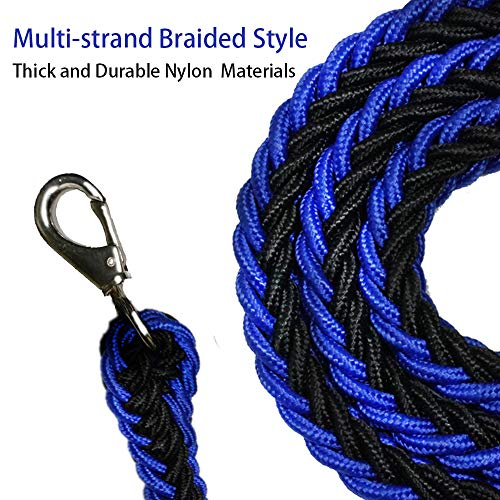 Umiee Dual Dog Leash Double Leash Rope for Dogs Tangle Free Safe Lock Braided Style for Medium Dogs