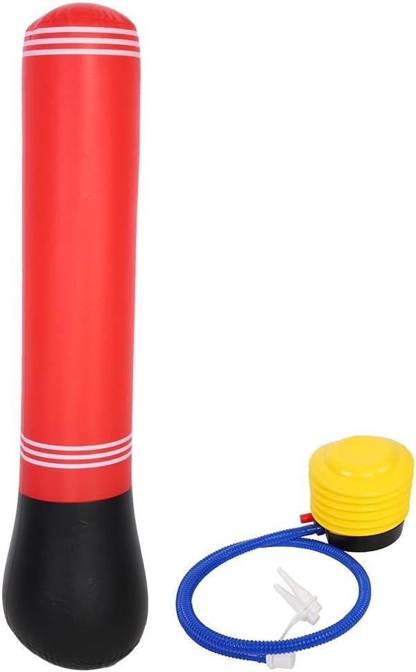 150cm Aufblasbarer Stress-Schwerer Boxsack-Turm Freistehende Wasserbasis mit Pumpe zum Boxen Alomejor Aufblasbarer Boxsack