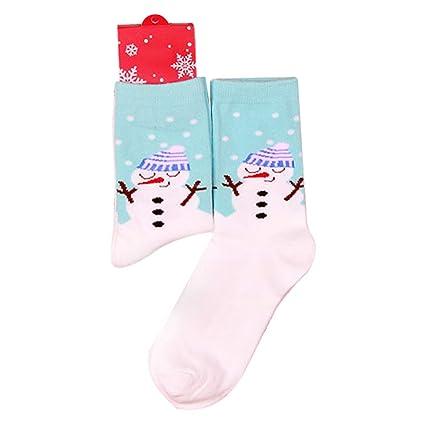Calcetines De Navidad Unisex Navidad Santa Noel Niño Medio Tubo Calcetines para niños niñas