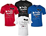 Disney Family Vacation T-Shirts Matching Cute Mickey T-Shirts (Blue, L Adult)
