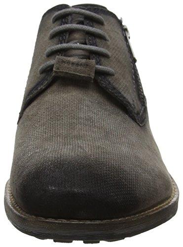 de Zapatos Grey para Bugatti 312531013415 1510 Gris Black Cordones Hombre Derby qSEqwWHr5