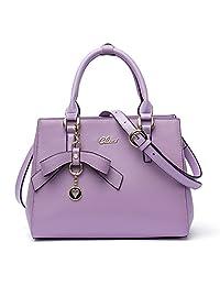 Cluci Leather Designer Handbags Tote Satchel Shoulder Bag Purse for Women