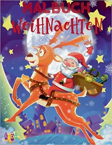 Kindergarten Weihnachten.Weihnachten Malbuch Kindergarten Malbuch Xxl Christmas