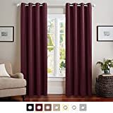 Vangao 52x63-Inch Grommet Blackout Curtains/Energy Saving Window Treatment for Bedroom 1 Panel Plum