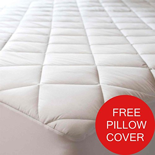 Fitted Quilted Mattress Covers Pads Protectors Queen Stretch Fits Any Mattress Upto 20inches Deep Cotton Blend Fabric Allergy Relief Padding Snug Fit Hypoallergenic