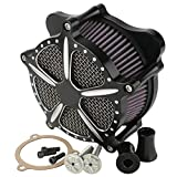 XMT-MOTO Black Contrast Cut Speed 5 Air Cleaner For Harley Touring Street Glide 2014 2015 2016