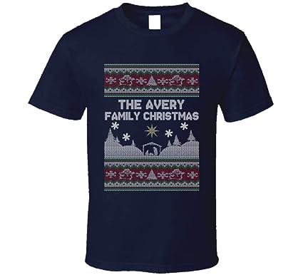 969094a48 Avery Family Ugly Christmas Sweater T Shirt   Amazon.com
