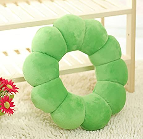 Amazon.com: SANNIX Donut Floor Pillow Round Floor Cushion Back ...