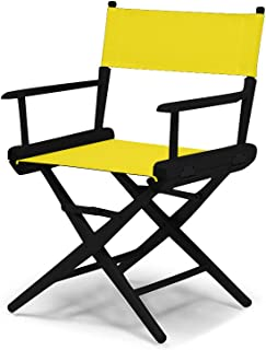 product image for Telescope Casual World Famous Dining Height Director Chair,Canary with Black Frame