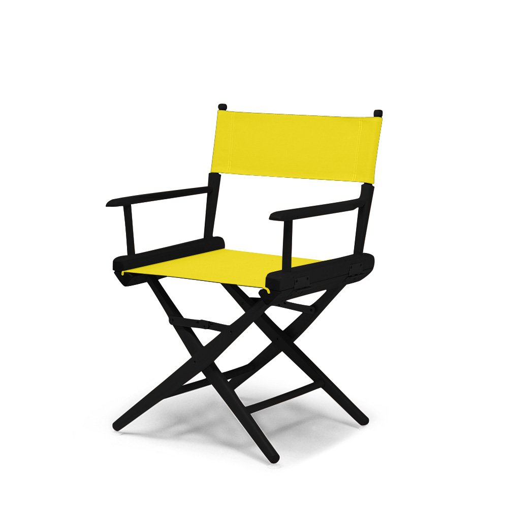 Telescope Casual World Famous Dining Height Director Chair,Canary with Black Frame