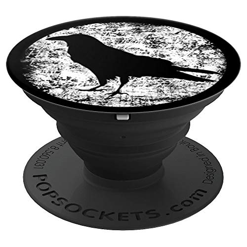 Black Crow Gothic Raven Halloween - PopSockets Grip and Stand for Phones and Tablets -