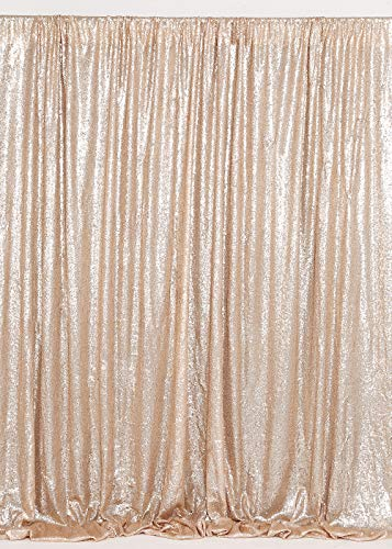 B-COOL Champagne Blush Sequin Backdrop 7ft X 7ft Photography backdrops Wedding Photo Booth Backdrop Sequin Curtain Shimmer Baby Shower Backdrop -
