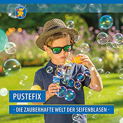 PUSTEFIX 2.35 oz Large Bubble Blowing Bottle Tube Toy for Kids (Assorted Colors): Toys & Games