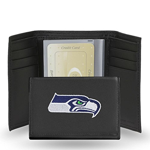 Wallet Hawk (Seattle Seahawks Embroidered Leather Tri-Fold Wallet)
