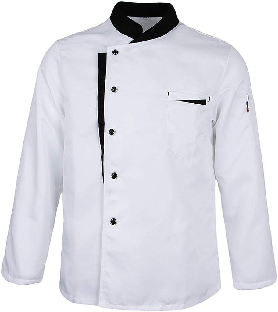 perfeclan Uniforme de Cocineros para Hostelería, Chef Camisa de Camarero uniforme Ropa de chef Panaderos Cómodo y Suave: Amazon.es: Ropa y accesorios
