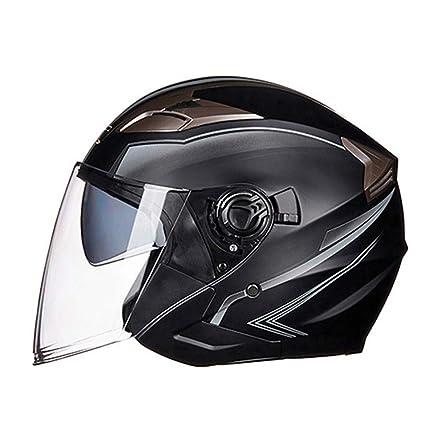 Amazon.es: Casco de motocicleta Mitad de cara Casco de ...