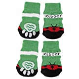 Pet Dog Puppy Cat Non-Slip Non-skid Shoes Slippers Socks Size S