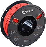 AmazonBasics PLA 3D Printer Filament, 1.75mm, Translucent Red, 1 kg Spool