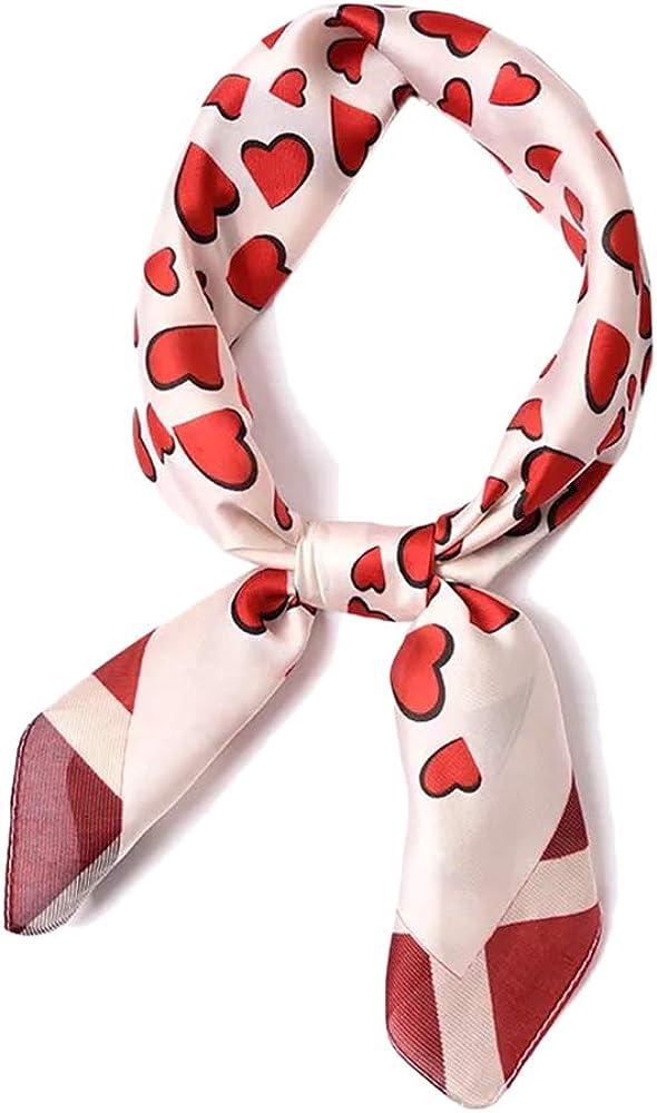 Cebilevin Damen Bandana Halstuch 70 70cm elegantes Nickituch Haarband Dreieckstuch Frauen Kopftuch