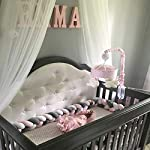 Baby-Crib-Bumper-Knotted-Braided-Plush-Nursery-Cradle-Decor-Newborn-Gift-Pillow-Cushion-Junior-Bed-Sleep-Bumper-WhitePinkGray-156-inch