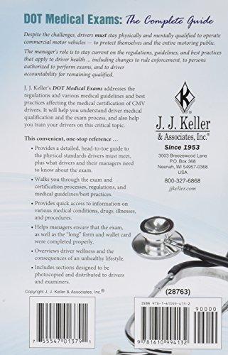 J.J. Keller 28763 DOT Medical Exams The Complete Guide