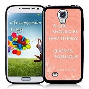 Cool Painting Galaxy S4 Case - S IV Case - Shawnex Vintage French Coco Chanel Quote Coral Samsung Galaxy i9500 Case Snap On Case