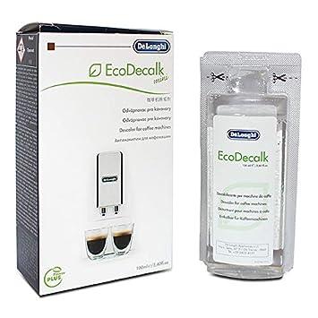 De Longhi 5513295981 EcoDecalk Mini máquina de café Descalcificador Eco – 100 ml: Amazon.es: Hogar