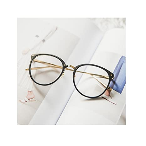 097ae99ef841a Pingenaneer Montures de lunettes Rétro Rondes Lunettes de Vue Lentille  Claire pour Homme et Femme Lunettes Cadre Noir mat  Amazon.fr  Cuisine    Maison