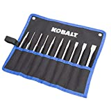 Kobalt 856867 10-Piece Punch/Chisel Set in Roll Pouch