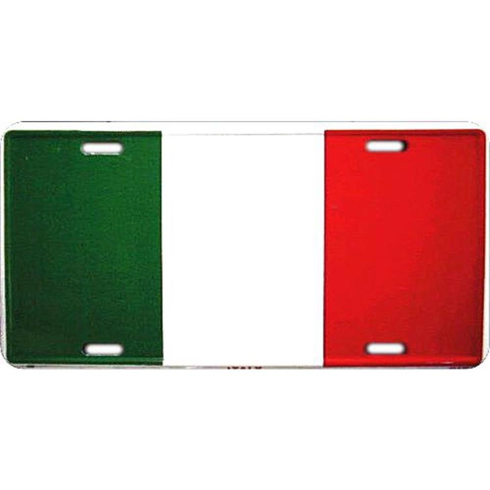 Signs 4 Fun SL908 Italy Flag License Plate