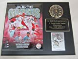 St Louis Cardinals All Time Greats Collectors Clock Plaque w/8x10 Photo and Card