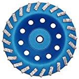 """7"""" Concrete Turbo Diamond Grinding Cup Wheel for Angle Grinder 5/8'' 11 Thread Mount"""