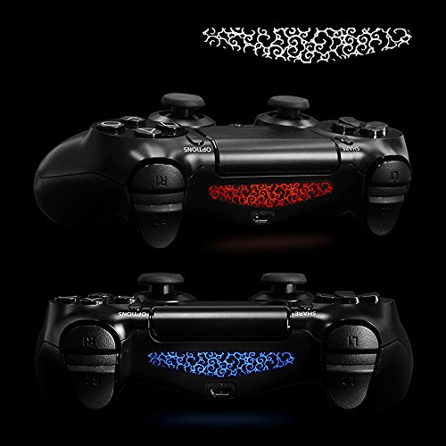 eXtremeRate-Set-of-30-Custom-Scared-Skull-Design-LED-Lightbar-Decals-for-Dualshock-4-Playstation-4-PS4-PS4-Slim-PS4-Pro-Controller-Stickers-Skins