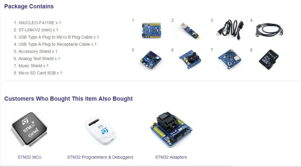 Amazon com: [Package B] STM32F411RET6 STM32 ARM Cortex-M4