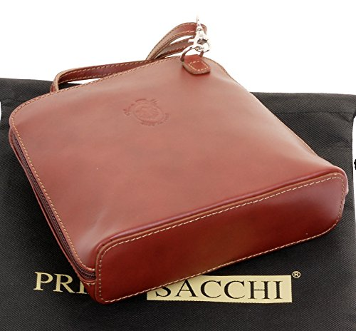 Bag Mid Italian a Bag Smooth Small Handbag Cross Sacchi® Primo Brown Storage Body Leather Shoulder Includes Branded 81wxg5Z