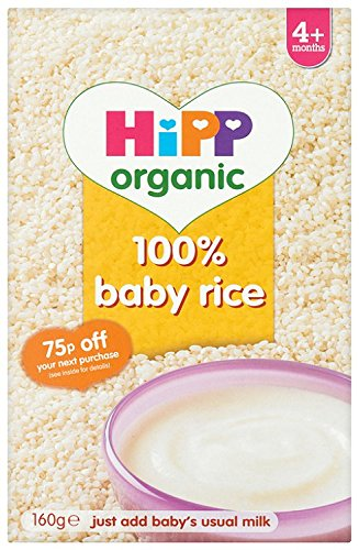 HiPP Organic Stage 1 From 4 Months Baby Rice 160 g (Pack of 4) BabyCentre GB2766.34