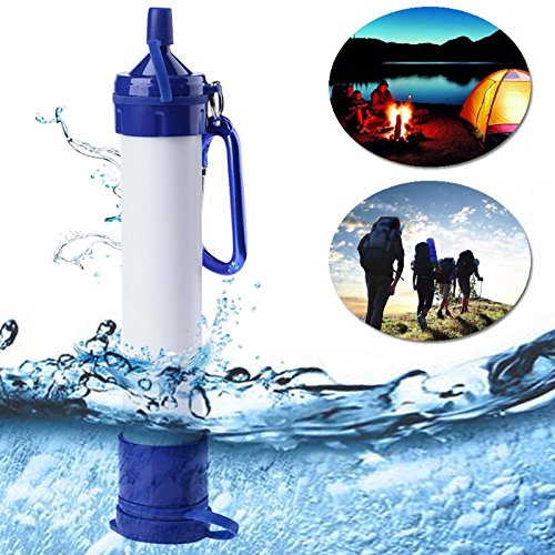 Homie New Portable Blue Purifier Straw Water Personal Survival Kit Outdoor Emergency Gear Outdoor Tool Accessory Filter 800L/185Gallon by Homie