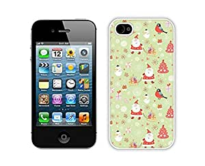 Recommend Design Carton Iphone 4S Protective Skin Case Merry Christmas White iPhone 4 4S Case 1