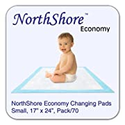 NorthShore Economy, 17 x 24, 6 oz., Changing Pads, Small, Pack/70