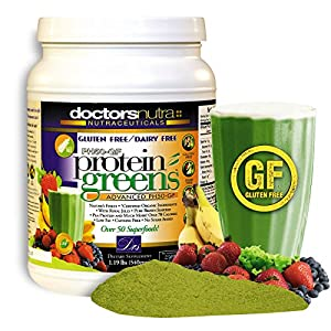 PH50 Protein Greens Plant-Based All Natural Gluten Free Dairy Free Vegetable Protein Great Tasting Vanilla Flavor Powder 1.19 pounds (540g) 30 servings