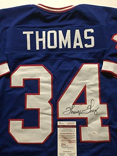 Autographed/Signed Thurman Thomas Buffalo Bills Blue Football Jersey JSA COA