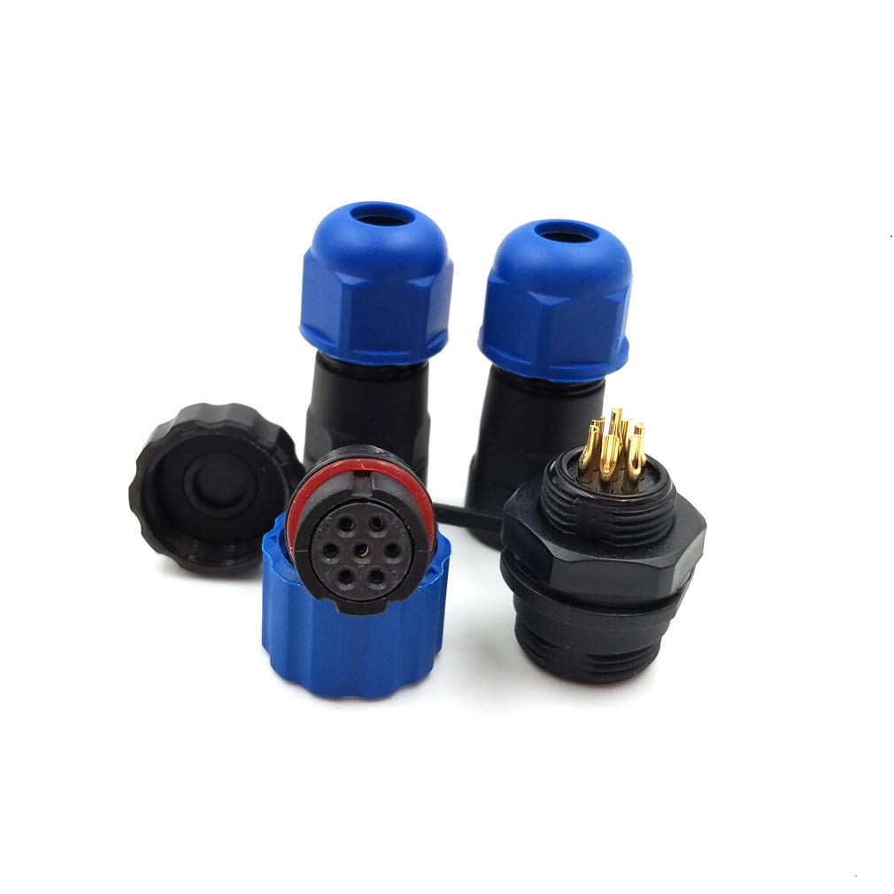5pin, Panel Moun Male LED Power Plug Socket,IP68 Industrial Electrical Cable Wire Connector 5 pin Plug SD13 Waterproof 5 pin Power Cable Connector Female -Socket