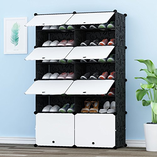 PREMAG Portable Shoe Storage Organzier Tower, Modular Cabinet Shelving For  Space Saving, Shoe Rack Shelves For Shoes, Boots, Slippers (2x 6 Tier)    Buy ...