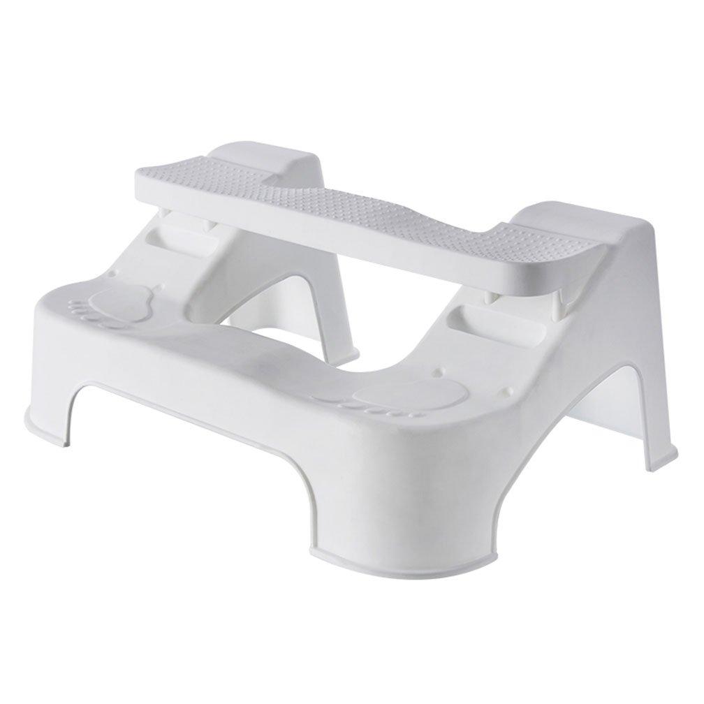 2 Steps 3 Asjustable Position Non-Slip Design Clidren Pregnant Woman Senior Bathroom Toilet Stool, Proper Toilet Posture for Better and Healthier Results