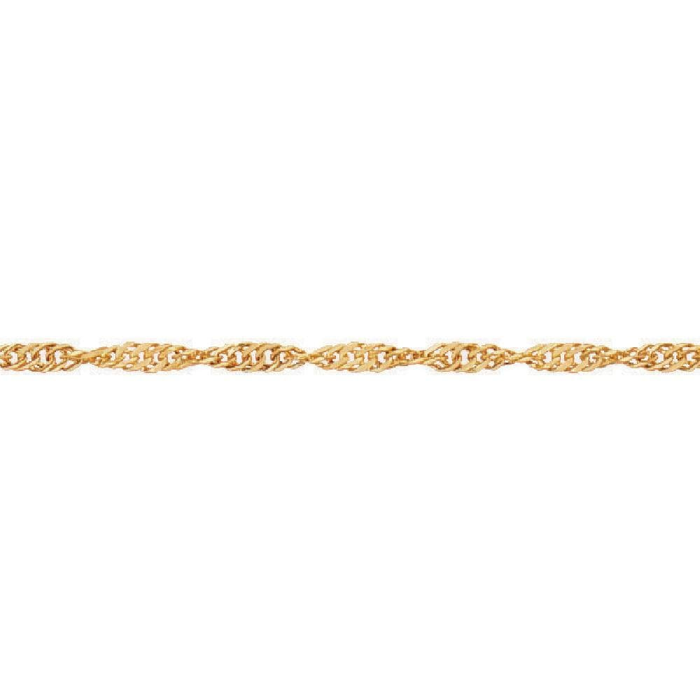 So Chic Jewels - 9k Yellow Gold - 25 cm - Singapore Link Chain Anklet